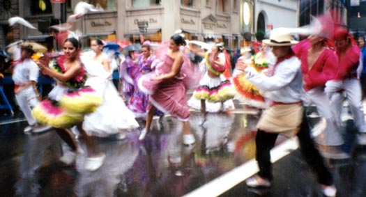 Hispanic Parade in Manhattan